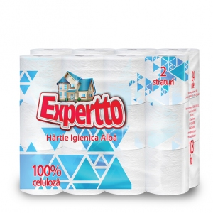 EXPERTTO TOILET PAPER, 2 PILES, 24 ROLLS, CHAMOMILLE