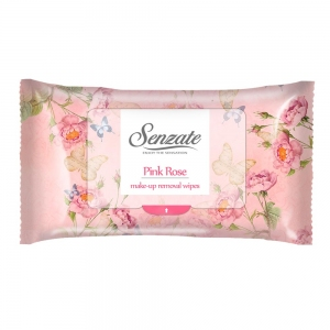 SENZATE ROMANTIC MAKE-UP REMOVAL WIPES PINK ROSE